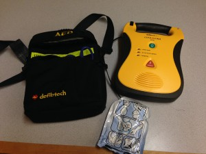 An AED that we learned how to use during our DAN FA Pro class