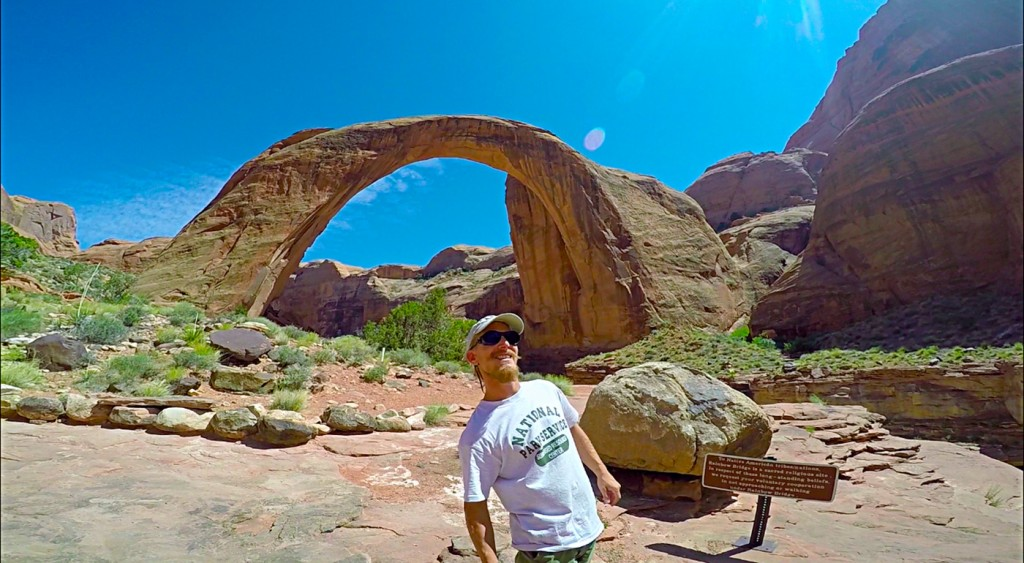 Another shot of Rainbow Bridge. A popular tourist destination, Rainbow Bridge was sacred to the native peoples of this region. It's hard to grasp the size of this incredible arch.