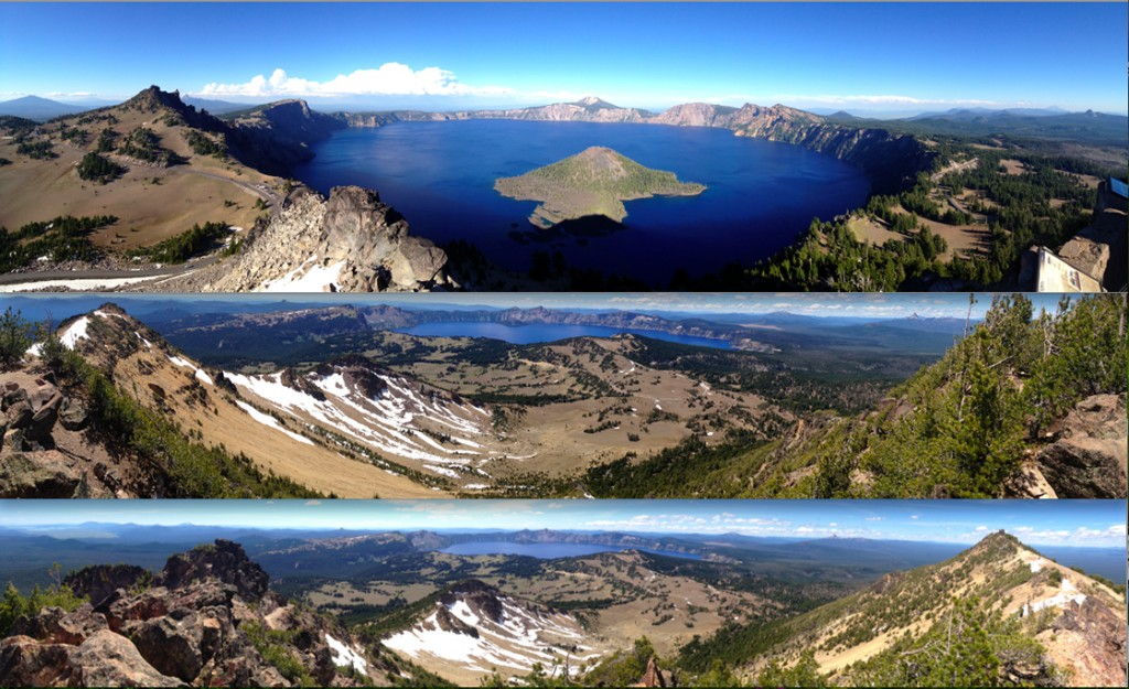 Words cannot do Crater Lake justice, put pictures can get close. It's incredible to think that this lake is less than 8,000 years old. Mt. Mazama, the name given to the mountain before it blew its top, was probably the tallest peak in the immediate area.
