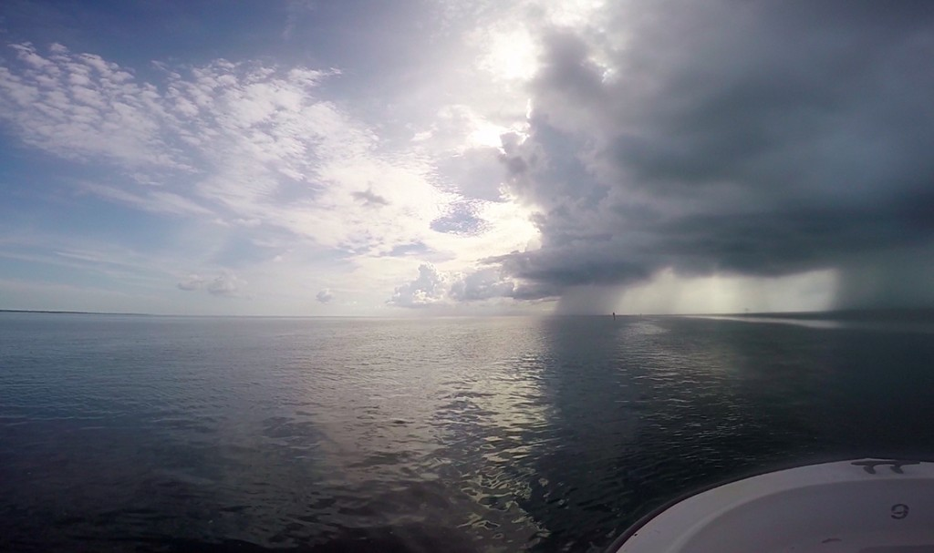 Often times the weather in the South Atlantic can turn without a moment's notice. It wasn't uncommon for a squall to blow through, leaving calm water and sunny skies in its wake.