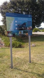 New sign at the Rodney J Hall boat ramp for GRNMS