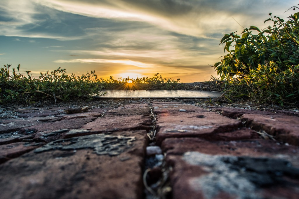 Sunset over the western bastion of Fort Jefferson.