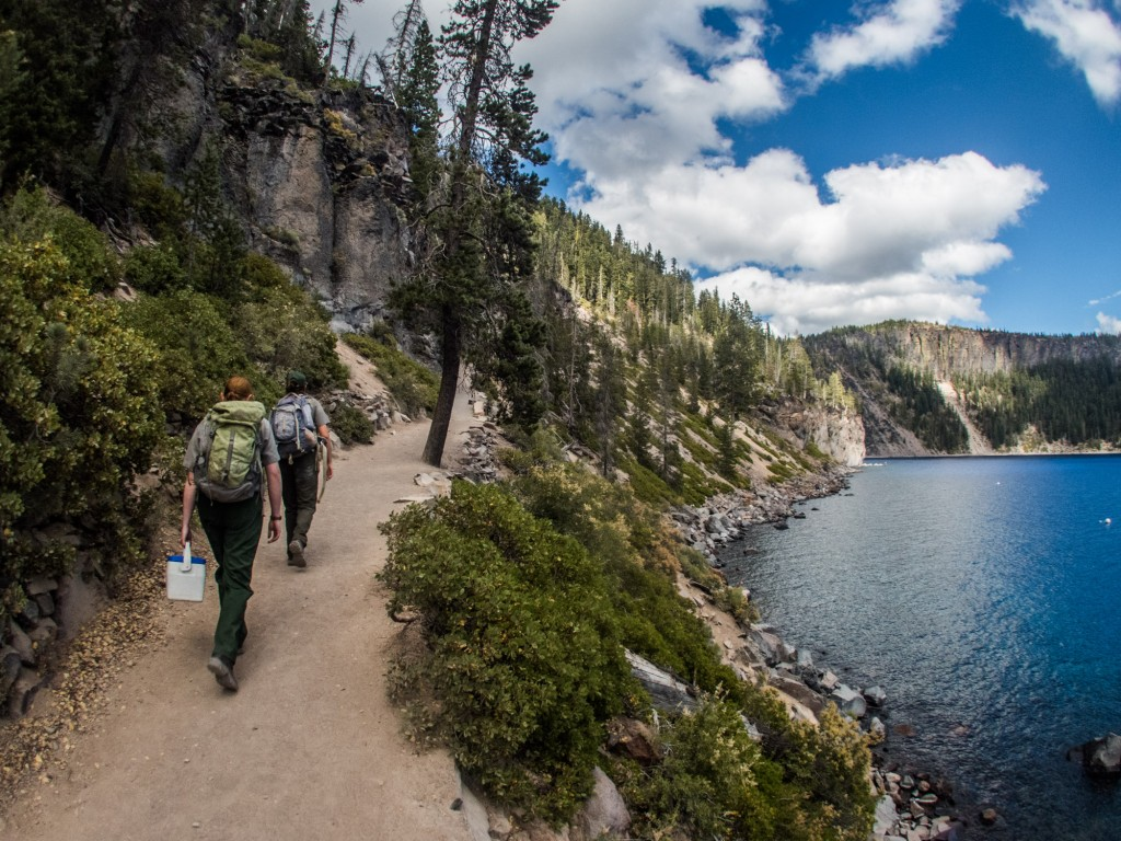 Hiking Cleetwood Trail is the last leg of the Lake Crew's scenic daily commute.