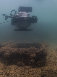 Deep Trekker's ROV examines a hatch before descending.