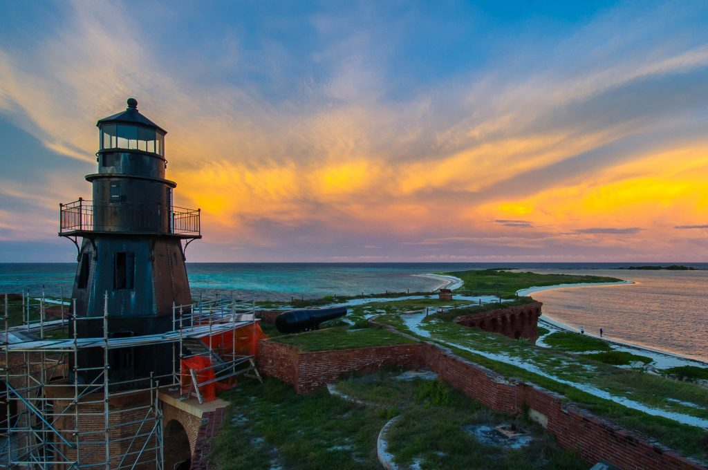 I may not have got the shot from the sailboat, but sunsets at Dry Tortugas can be pretty special.