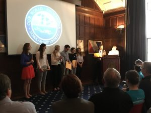 2017 Interns and Scholars getting inducted into the Explorer's Club